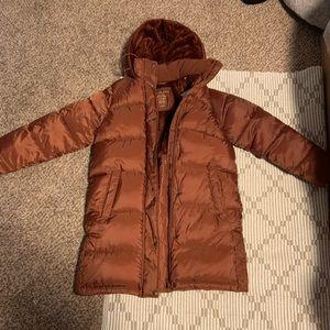 American Eagle Puffy long winter Coat (M) Maroon